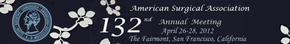 132nd Annual Meeting April 26-28, 2012 The Fairmont San Francisco CA