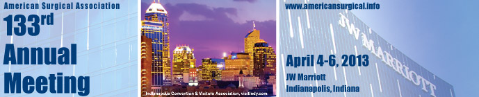 133rd Annual Meeting April 4-6, 2013, JW Marriott, Indianapolis, Indiana